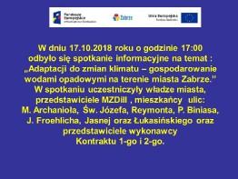 Spotkanie z mieszkańcami 17.10.2018