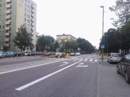 Azyl dla pieszych, ul. De Gaulle'a