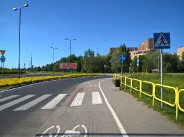 Ścieżka rowerowa przy ul. Korfantego